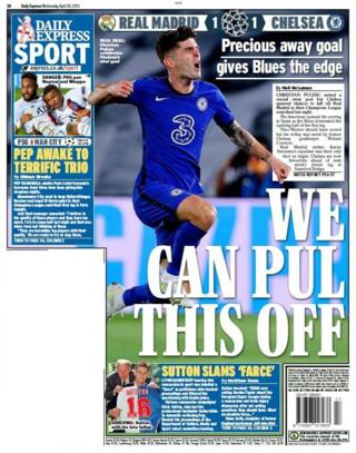 Wednesday's back pages - Metro: 'We can Pul this off'