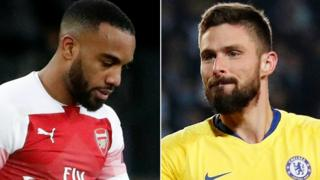 Alexandre Lacazette and Olivier Giroud