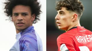 Leroy Sane and Kai Havertz