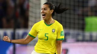 Thaisa of Brazil celebrates