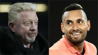 Boris Becker and Nick Kyrgios split picture