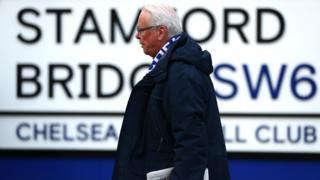 Chelsea fan outside Stamford Bridge