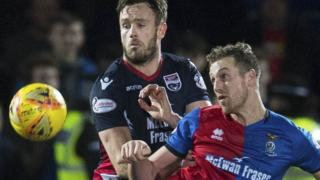 Inverness CT's Liam Polworth and Ross County's Keith Watson