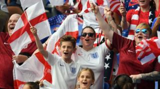 England fans at the Women's World Cup in France