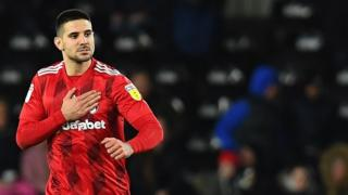 Aleksandar Mitrovic in action for Fulham