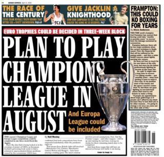 Sunday's Express back page