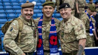 soldiers at ibrox