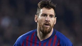 Lionel Messi of Barcelon