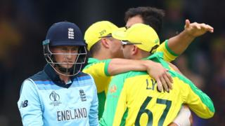 Joe Root walks off after being dismissed against Australia
