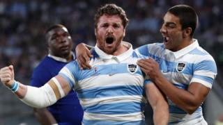 Argentina celebrate their second try