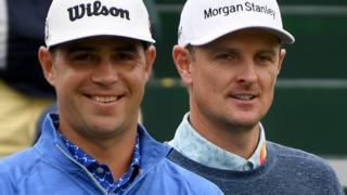 Gary Woodland and Justin Rose