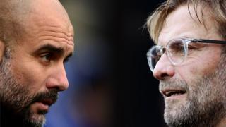 Manchester City manager Pep Guardiola (left) and Liverpool boss Jurgen Klopp