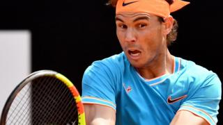Rafael Nadal at the Italian Open