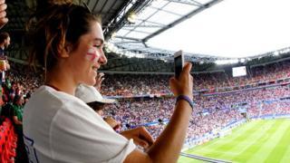 England fan at World Cup semi-final