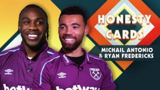 West Ham's Michail Antonio & Ryan Fredericks
