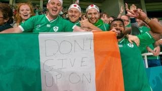 Ireland fans at the Rugby World Cup