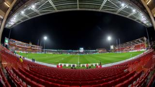 Kingsholm, home of Gloucester rugby club