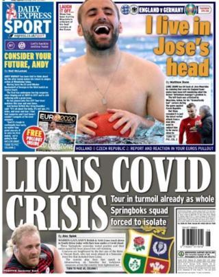 Le Daily Express mène les commentaires de Luke Shaw sur Jose Mourinho