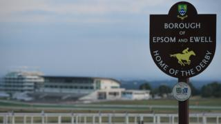 A view of Epsom Downs racecourse