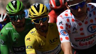 Julian Alaphilippe in action