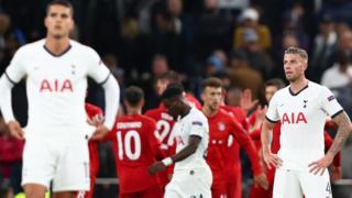 Tottenham lose to Bayern Munich