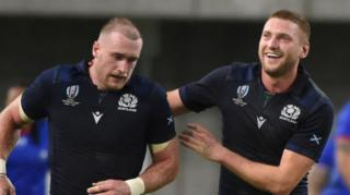 Scotland stars Stuart Hogg and Finn Russell
