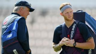 Ben Stokes with England coach Chris Silverwood