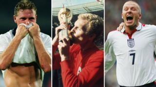Paul Gascoigne, Bobby Moore, David Beckham