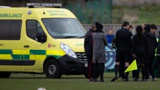 Ambulance at the match