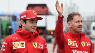 Charles Leclerc and Sebastian in Shanghai