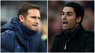 Frank Lampard and Mikel Arteta