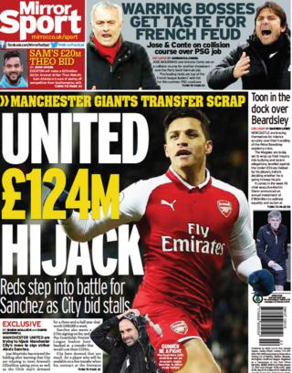 The Mirror's back page on Friday