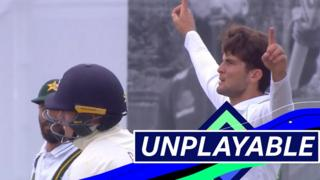 Shaheen Afridi ends Ollie Pope's innings