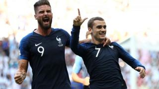 Olivier Giroud and Griezmann