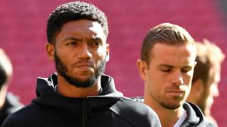 Joe Gomez and Jordan Henderson
