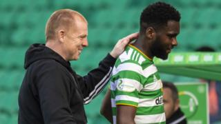 Neil Lennon and Odsonne Edouard
