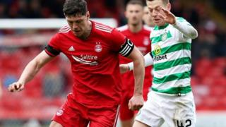 Aberdeen playing Celtic in 2019