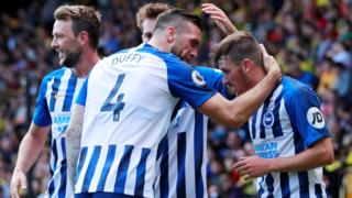 Brighton celebrate with Pascal Gross