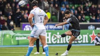 Glasgow Warriors' Adam Hastings against Sale