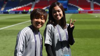 Yuka Momiki and Yui Hasegawa of Japan