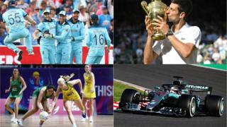 Cricket, F1, Netball and Tennis