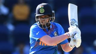 India opener Shafali Verma plays a shot against Sri Lanka