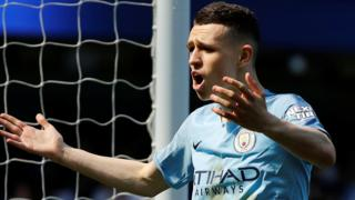 Manchester City's Phil Foden celebrates