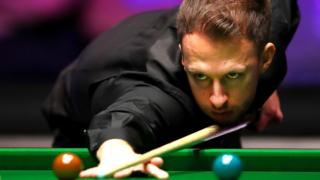 Judd Trump in action at the Masters