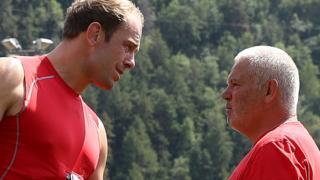 Wales captain Alun Wyn Jones and coach Warren Gatland