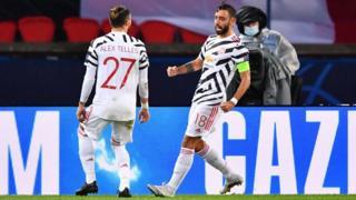 Bruno Fernandes celebrates