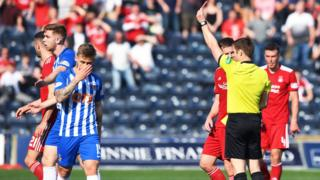 Kilmarnock's Stuart Findlay sent off