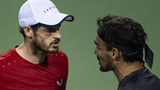 Andy Murray loses against Fabio Fognini