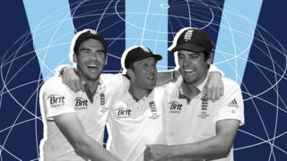 James Anderson, Graeme Swann and Alastair Cook
