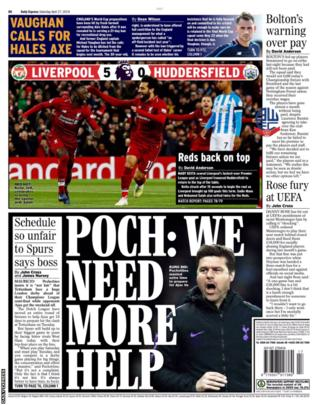 Saturday's Daily Express